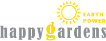 happy gardens earth power logo