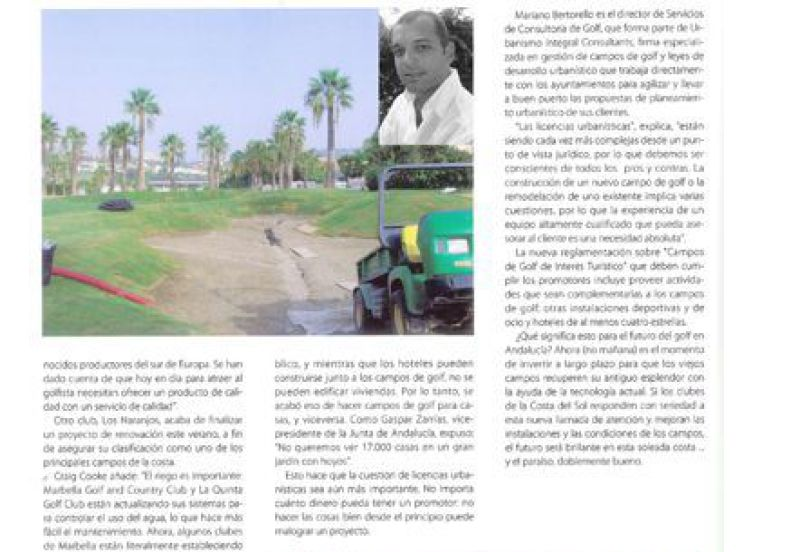 article about golf management