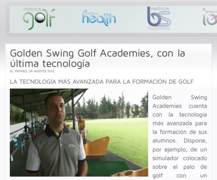 screenshot of a golf pro shop site
