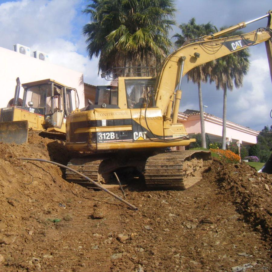 landscaping digger