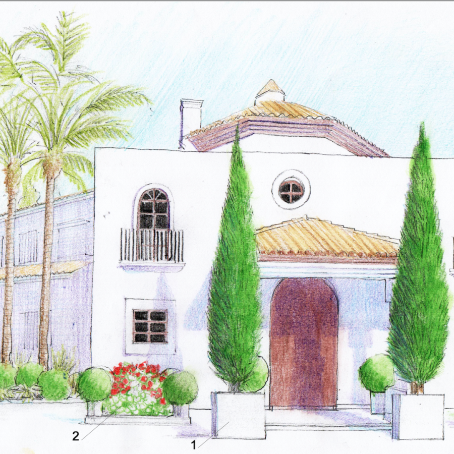 beautiful house drawing